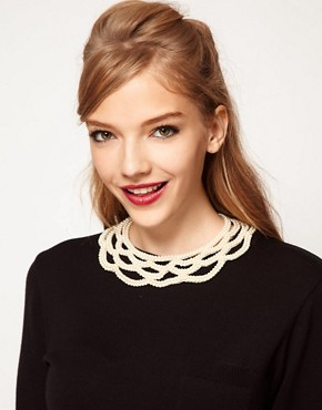 Image 1 ofASOS Pearl Collar
