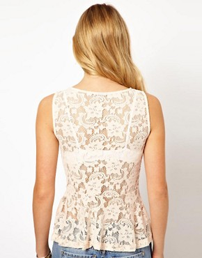Image 2 of Vila Lace Peplum Top