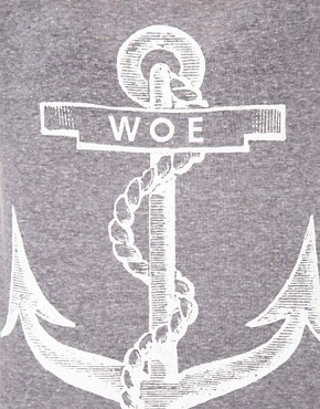 Image 3 ofThe Orphans Arms Woe Anchor T Shirt