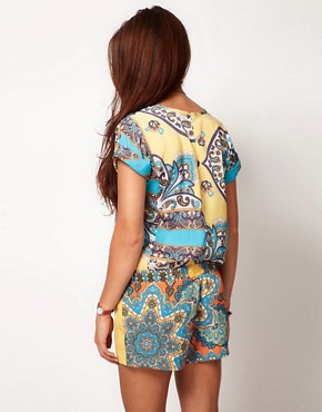 Image 2 ofRiver Island Scarf Mix Playsuit