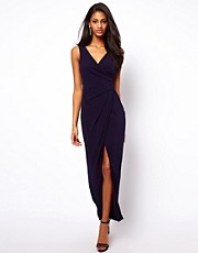 ASOS Wrap Front Maxi Dress