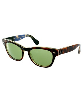 Image 1 ofRay-Ban Havana Laramie Small Frame Sunglasses