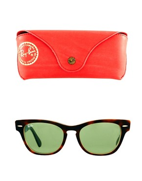Image 2 ofRay-Ban Havana Laramie Small Frame Sunglasses