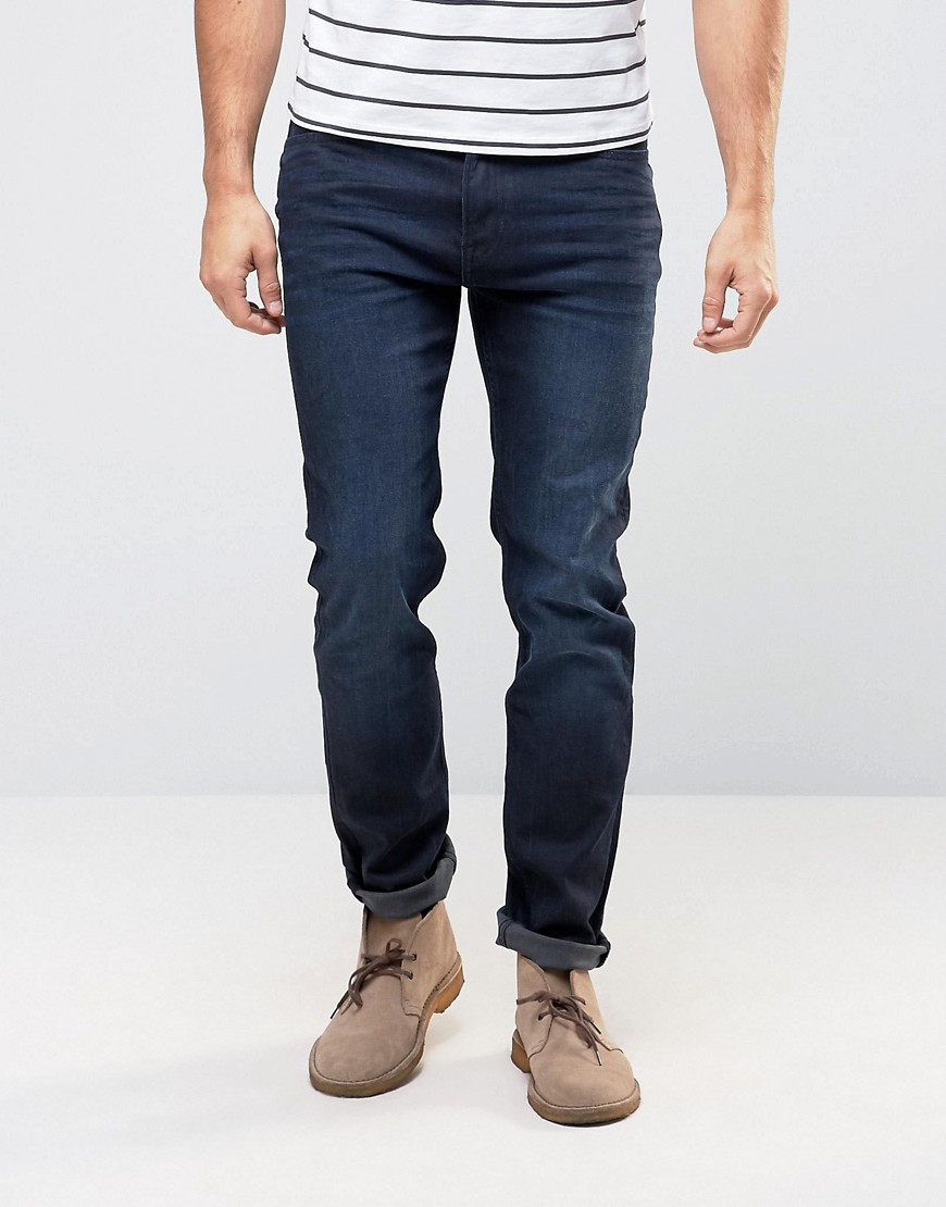 Lee Rider Slim Jeans Blue Black Worn Wash - Blue black worn