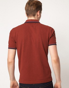 Image 2 ofFred Perry Polo Slim Fit Twin Tipped