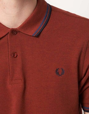 Image 3 ofFred Perry Polo Slim Fit Twin Tipped
