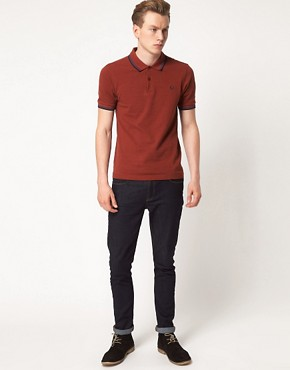 Image 4 ofFred Perry Polo Slim Fit Twin Tipped
