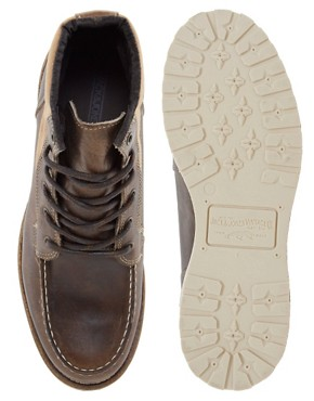 Image 3 ofJack &amp; Jones Logger Moc Toe Boots