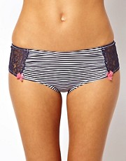 Marie Meili Stripe &amp; Lace Shortie