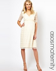 ASOS Maternity &ndash; Midikleid aus Spitze