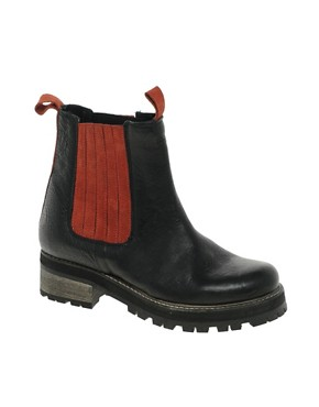 Image 1 ofASOS ASSORT Leather Chelsea Ankle Boots