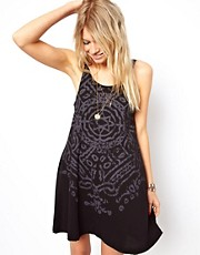 ASOS Swing Dress With Star Necklace Print