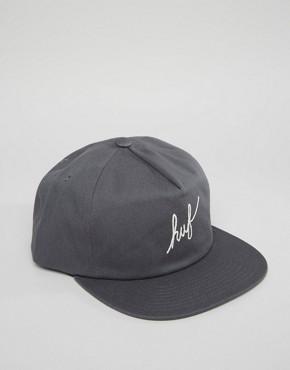 HUF Snapback Cap Script Logo