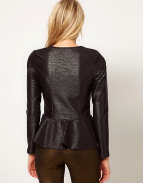 Image 2 ofOasis Matt &amp; Shine Peplum Jacket
