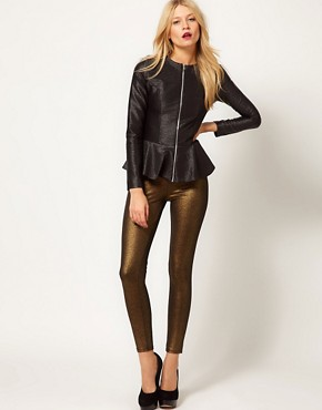 Image 4 ofOasis Matt &amp; Shine Peplum Jacket