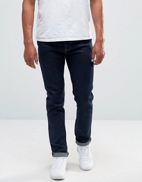 ASOS Slim Jeans In Raw Blue