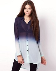 Vero Moda Ombre Longline Shirt