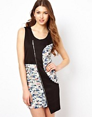 Jovonna Dress With Asymetric Zip