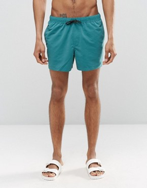ASOS Short Length Swim Shorts In Teal