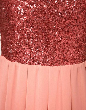 Image 3 ofTFNC Babydoll Dress With Sequin Bodice