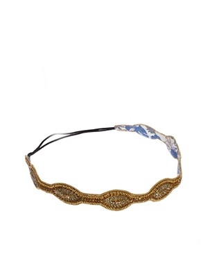 Image 2 ofDeepa Gurnani Gold And Bronze Stretch Headband