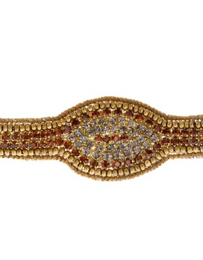 Image 3 ofDeepa Gurnani Gold And Bronze Stretch Headband