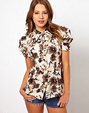 Juicy Couture Silk Painted Garden Shirt