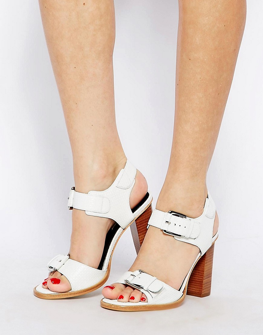 Image 4 of Whistles Gia Buckle Block Heeled Sandals
