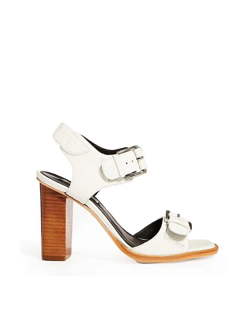 Image 1 of Whistles Gia Buckle Block Heeled Sandals