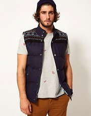 D-Struct Gilet With Knit Detail