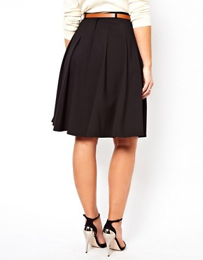 Image 2 ofASOS CURVE Midi Skirt With Belt