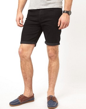 Image 1 of ASOS Denim Shorts In Skinny Fit