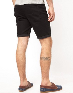 Image 2 of ASOS Denim Shorts In Skinny Fit
