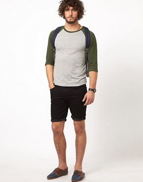 Image 4 of ASOS Denim Shorts In Skinny Fit