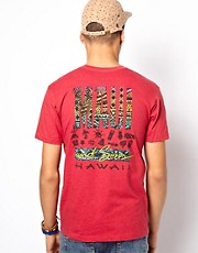 Maui And Sons T-Shirt Tapa Maui Back Print Heather