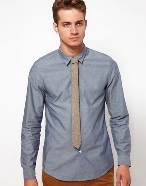 Image 4 ofASOS Herringbone Tie