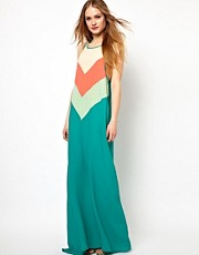 Jarlo Chevron Striped Maxi Dress