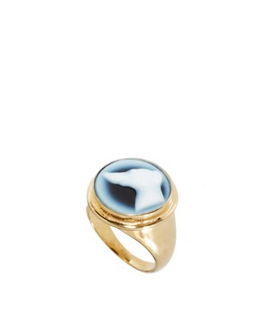 Image 1 ofLaura Lee Dog Agate Cameo Ring
