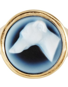 Image 2 ofLaura Lee Dog Agate Cameo Ring