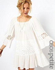 ASOS PETITE EXCLUSIVE Trapeze Dress With Laser Cut Panel