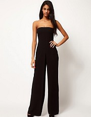 ASOS Bandeau Jumpsuit In Crepe