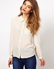 Oasis Shirt With Lace Collar