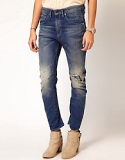 G-Star Destroyed Dexter Skinny Jeans