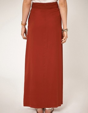 Image 2 ofA Wear Maxi Skirt With Knot Front