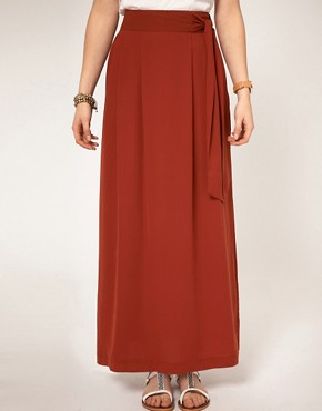 Image 4 ofA Wear Maxi Skirt With Knot Front