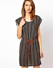 Selected Stripe Dress With Belt