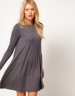 Image 1 ofASOS Swing Dress With Long Sleeves