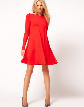 Image 4 ofASOS Swing Dress With Long Sleeves