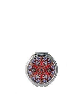 Image 1 ofASOS Exclusive Mixed Floral Print Compact Mirror