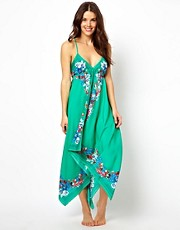 Oasis Pansy Bordered Maxi Dress